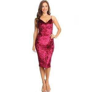 3d7b87aef59 Dresses   Skirts - Burgundy Velvet Midi Dress